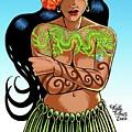 Leilani The Dragon Tattooed Wahine by Keith Tucker