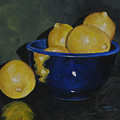 Lemons And Blue Bowl IIi by Torrie Smiley