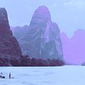 Li River Boaters by Steven Hlavac