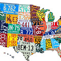 License Plate Map Of The United States Outlined by Design Turnpike