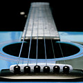 Light Blue Guitar 13 by Andee Design