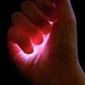 Light Captured In Child's Hand by Sami Sarkis