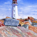 Lighthouse Peggys Cove by Rich Stedman