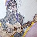Lightnin Hopkins Blues Sketch by Michelle Black