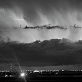 Lightning Cloud Burst Black And White by James BO Insogna