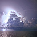 Lightning Over The Gulf by James Jones