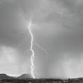 Lightning Strike Colorado Rocky Mountain Foothills Bw by James BO  Insogna