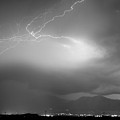 Lightning Strikes Over Boulder Colorado Bw by James BO Insogna
