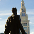 Lincoln Statue And Terminal Tower by Kathleen Nelson