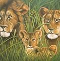 Lion Family by Henry  Frison