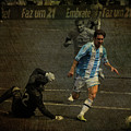 Lionel Messi Breaking Raphael Cabrals Ankles  by Lee Dos Santos