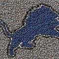 Lions Bottle Cap Mosaic by Paul Van Scott