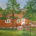 Little Cabin In The Big Woods by Patricia Ortman