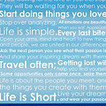 Live Life by Brad Scott