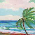 Lone Palm On The Beach by Karen Fields