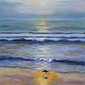 Lone Sandpiper by Karen Layne