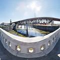Los Angeles River Washington Avenue Bridge South by Pete  Babij