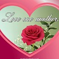Love One Another Card by Sonya Nancy Capling-Bacle