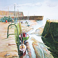 Low Tide Dysart Harbour by John Bonington