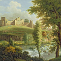 Ludlow Castle With Dinham Weir by Samuel Scott