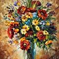 Magic Flowers by Leonid Afremov