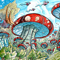 Magic Mushroom Forest by Luis Peres