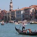 Main Canal Venice Italy by John Malone