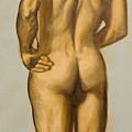 Male Nude Self Portrait By Victor Herman by Joni Herman