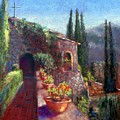Mallorcan Monastery by Shirley Leswick