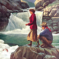 Man And Woman Fishing by JQ Licensing