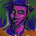 Man In Blue Hat by Russell Pierce