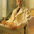 Man With Cat by Cecilia Beaux
