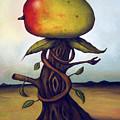 Mango Tree Aka Senor Mango by Leah Saulnier The Painting Maniac