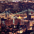 Manhattan And Brooklyn Bridges by Rob Kroenert