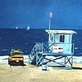 Manhattan Beach Lifeguard Station by Lance Headlee