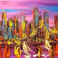 Manhattan Purple By Mark Kazav by Mark Kazav