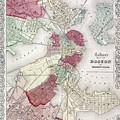 Map: Boston, 1865 by Granger