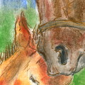 Mare And Foal by Mary Armstrong