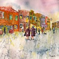 Market Place In Borano by Sharon Mick