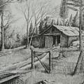 Ma's Barn And Truck by Chris Shepherd