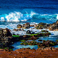 Maui Hawaii Breaking Surf  by Scott McGuire