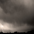 May Showers 3 In Sepia - Lightning Thunderstorm 5-10-2011 Boulde by James BO Insogna