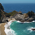 Mcway Falls In Big Sur by Charlene Mitchell