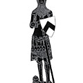 Medieval Knight Brass Rubbing by Shelagh Watkins