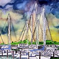 Melbourne Florida Marina by Derek Mccrea