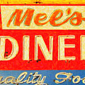 Mels Diner by Wingsdomain Art and Photography