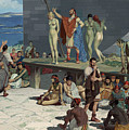 Men Bid On Women At A Slave Market by H.M. Herget