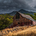 Mendon Utah Barn In Storm by Gary Whitton