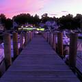 Meredith Nh Boardwalk At Twilight by John Burk