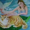 Mermaid And Cat by Lian Zhen